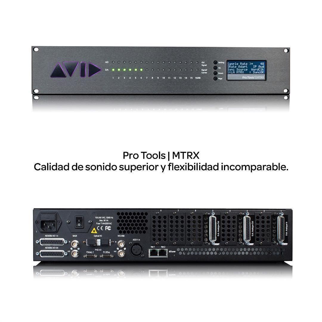Buscas una calidad de sonido nítida y perfecta funciones de enrutamiento ampliable así como el máximo control de monitor posible en tus sesiones? No busques más.  Pro Tools | MTRX para Pro Tools | HDX y HD Native. Consigue la increíble calidad sonora de los legendarios conversores D/A y A/D de DAD junto con excelentes capacidades de monitorización flexible E/S y enrutamiento en una potente unidad que se integra a la perfección con Pro Tools | S6 y S3.  http://ift.tt/2dEsDhI  #HDX #ProTools…