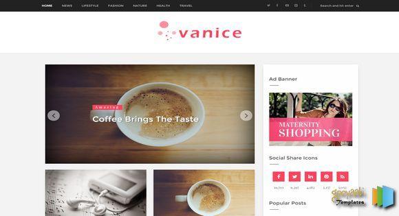 vanice modern blogger template web graphics theme wp free