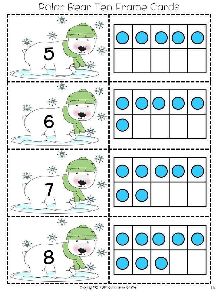 Polar Bear Ten Frame Cards! $ | Math | Pinterest | Ten frames ...