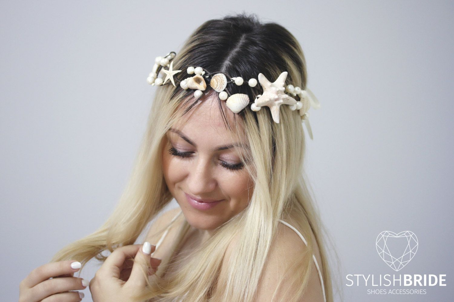 Wedding Hair Piece, Beach Bridal Crown Starfish, Bridal Headband ...