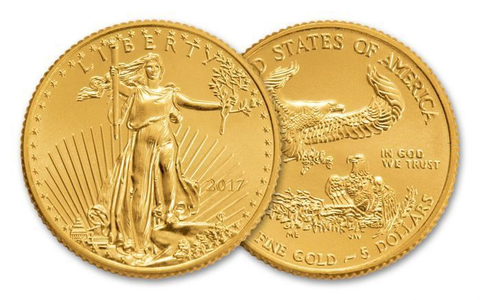 2017 5 Dollar 1 10 Oz Gold Eagles Brilliant Uncirculated Govmint Com 2017 5 Dollar 1 10 Oz Gold Eagle Bu The Post 201 In 2020 Gold Coins Dollar Where To Buy Gold