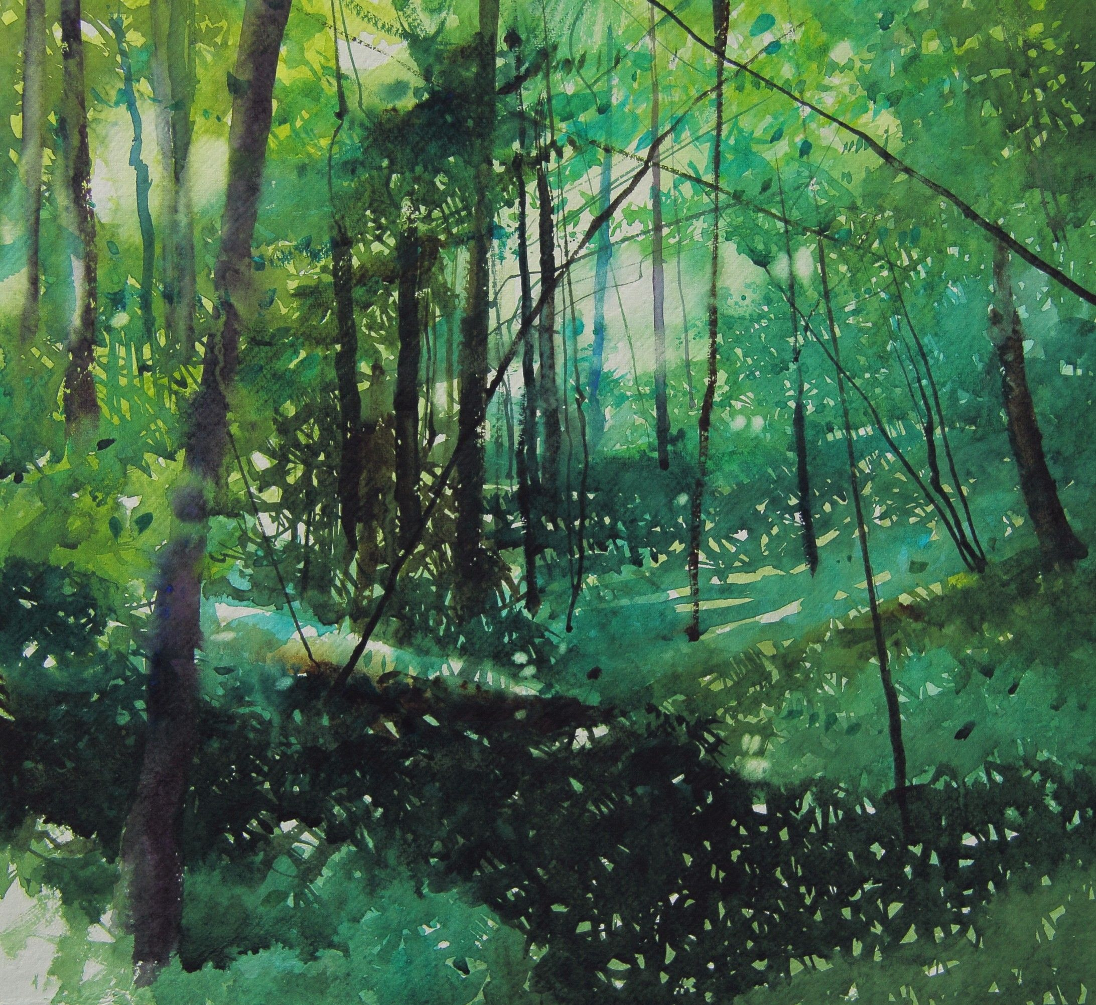 David Parfitt Landscape Artist Watercolor Landscape Abstract