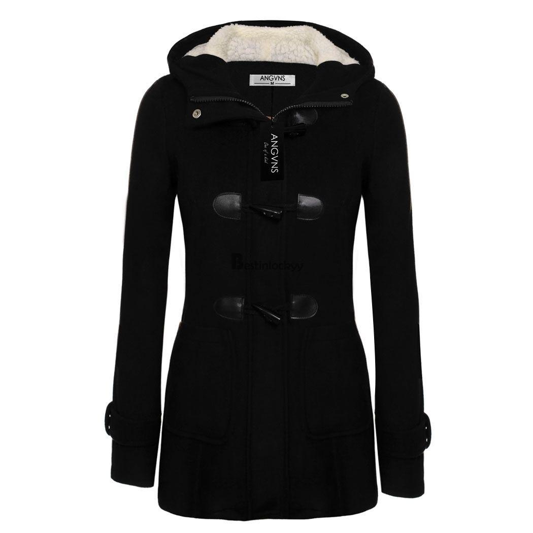 Cool Women Long Sleeve Hoodie wool Winter Warm jacket coat trenck ...