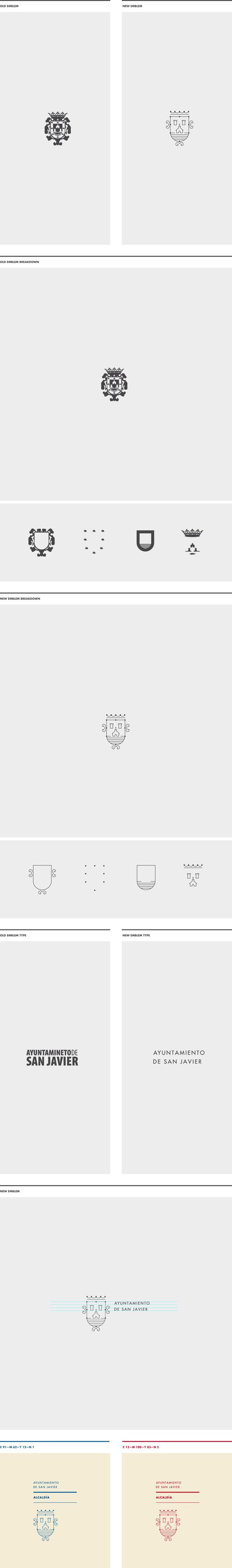 San Javier Emblem Redesign Proposal By Jose álvarez Carratalá Via Behance Logo Design San Emblems