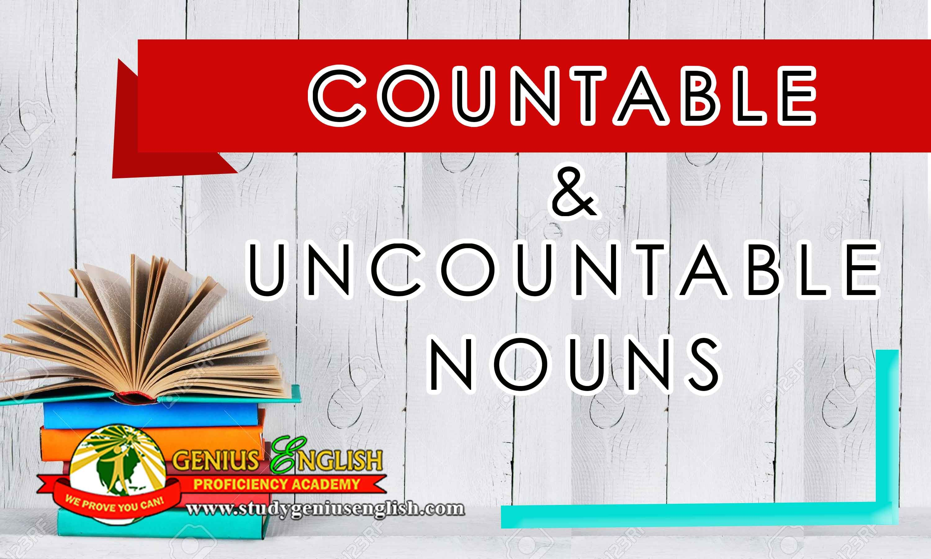 Difference Between Countable And Uncountable Nouns Con