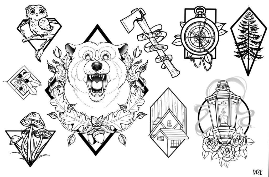 80 Free Small Tattoo Designs Tattoo Insider Small Tattoo Designs Skull Tattoo Design Forest Tattoos