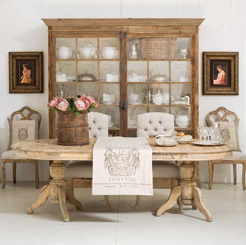 Rustic french dining room so pinterest esszimmer gedeckter tisch und decken - Esszimmer franzosisch ...