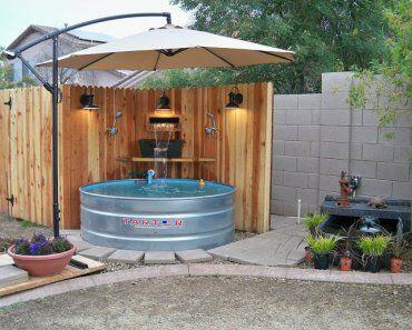 Micro piscinas de bajo presupuesto porches y terrazas for Piscinas pequenas portatiles