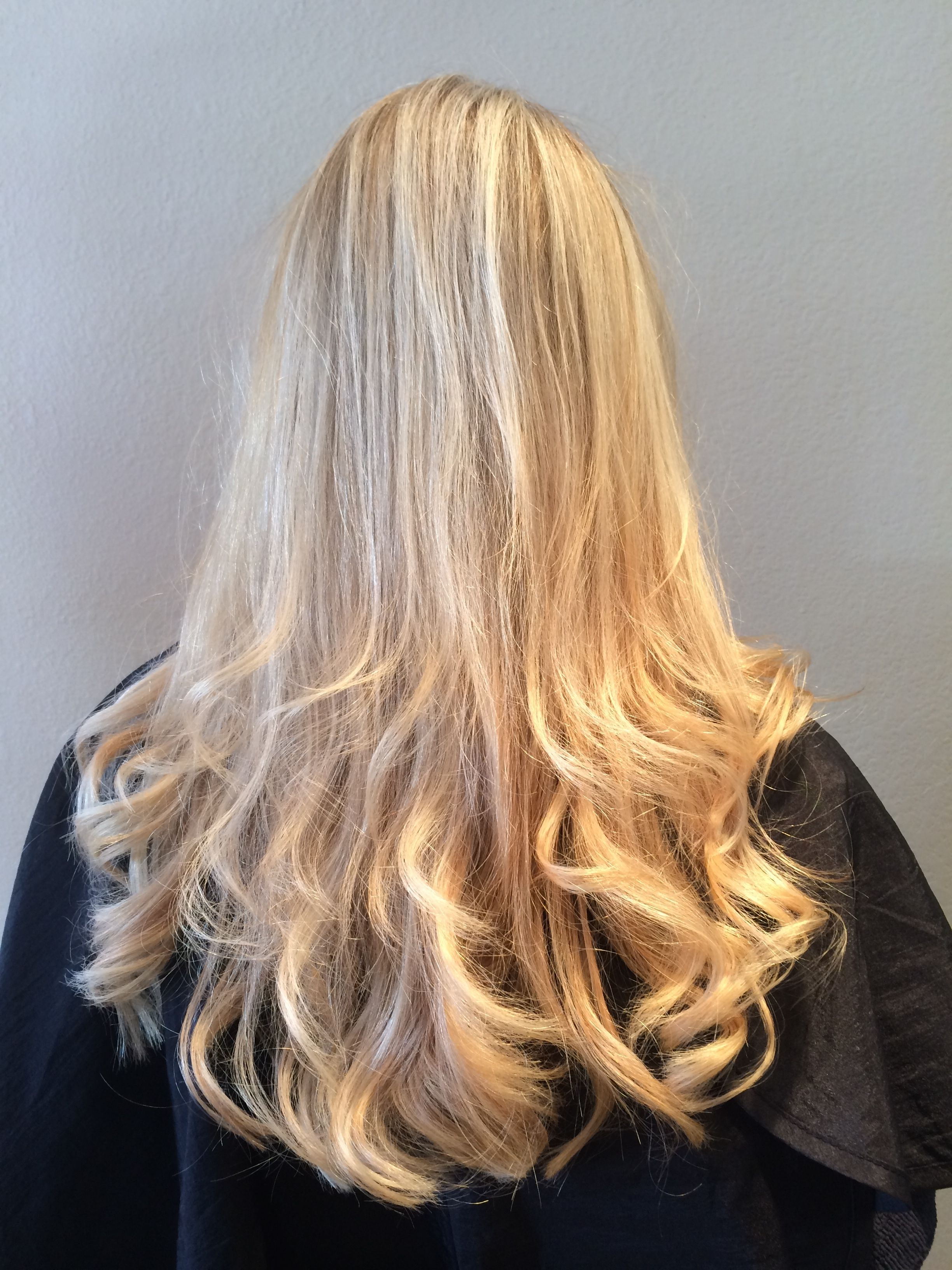 blonde 2-tone highlights full head | long hair styles, hair