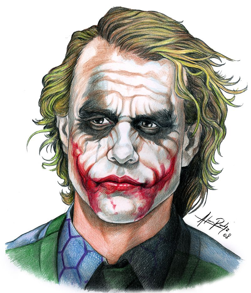 I Like This Because It Resembles Heath Ledger From The Joker It
