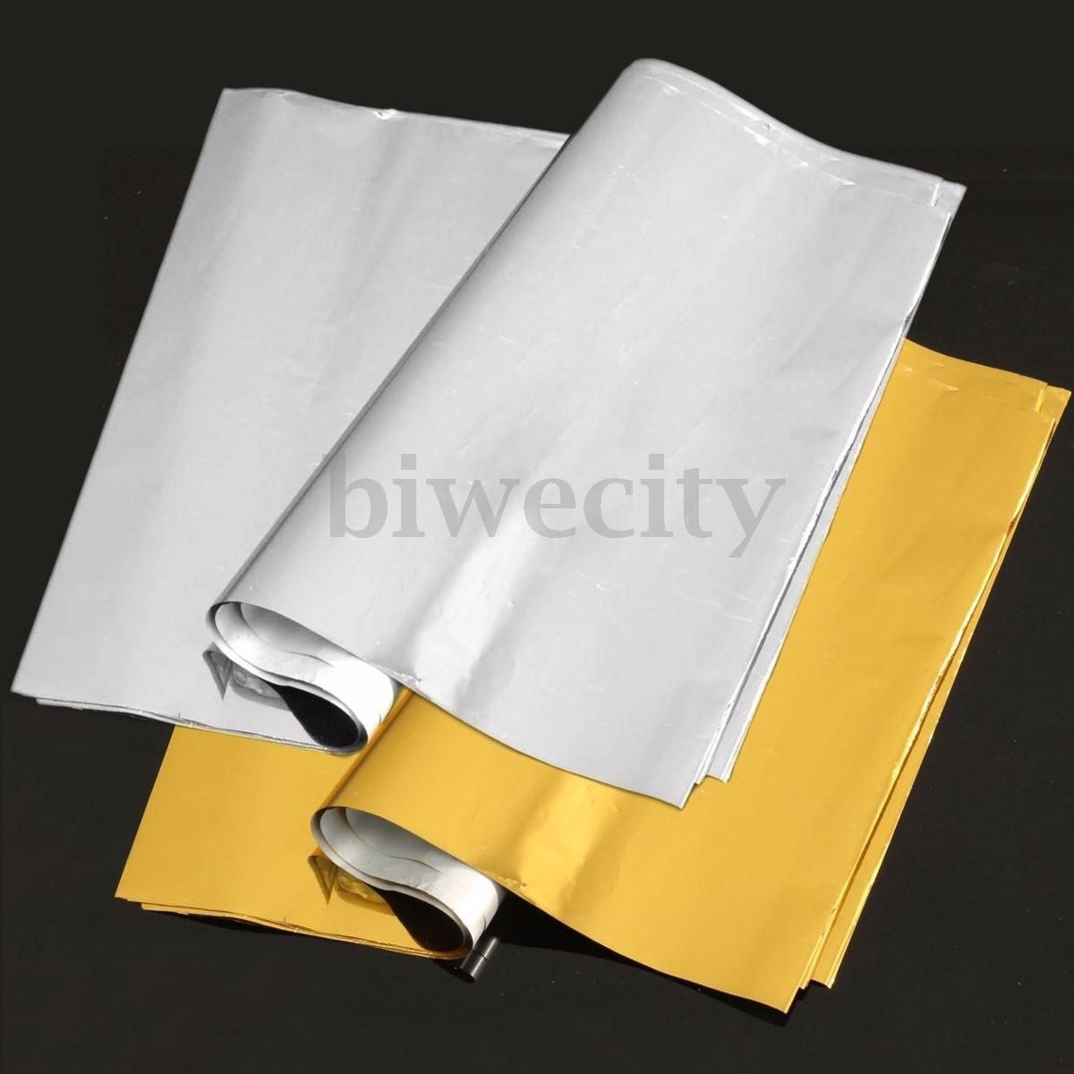 50 Sheets A4 Gold Silver Transfer Foil Paper Laser Printer Machine Hot Laminator Gold Foil Paper Foil Paper Transfer Foil