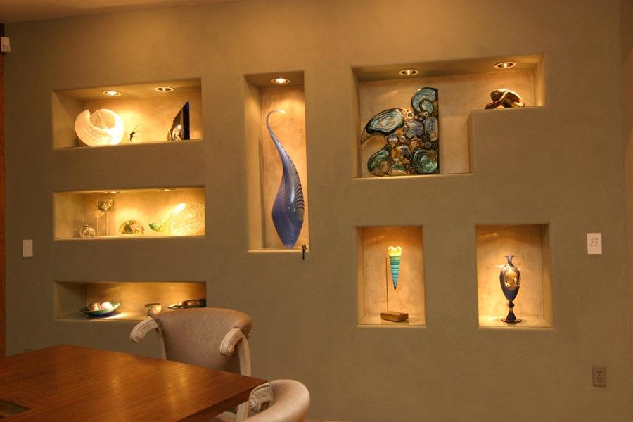 Decorative wall niches that will spice up your home niche design wall for Interior wall decoration ideas