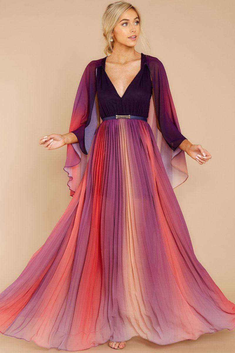 Gorgeous Purple Multi Maxi Dress Caped Rainbow Maxi Dress 84 Red Dress Trendy Maxi Dresses Maxi Dress Best Maxi Dresses [ 1200 x 800 Pixel ]