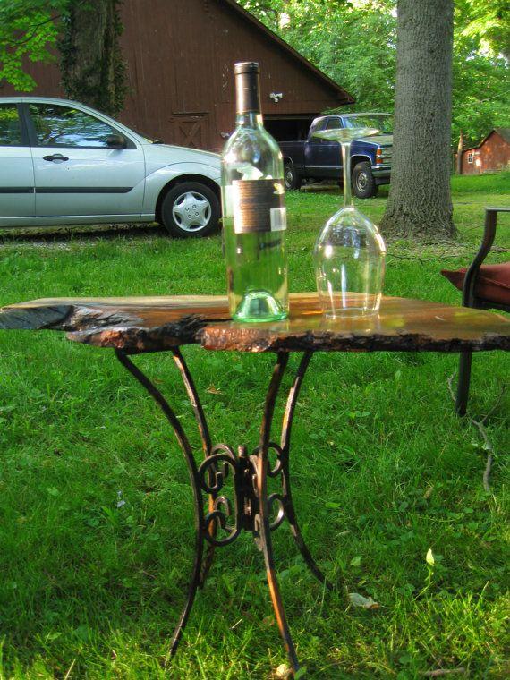 Black Metal Bedside Tables: Indiana Black Walnut Side Table/Bedside Table, Serving