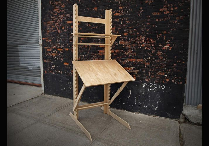 a 4 in 1 sitting standing and draft desk plus easel pinterest