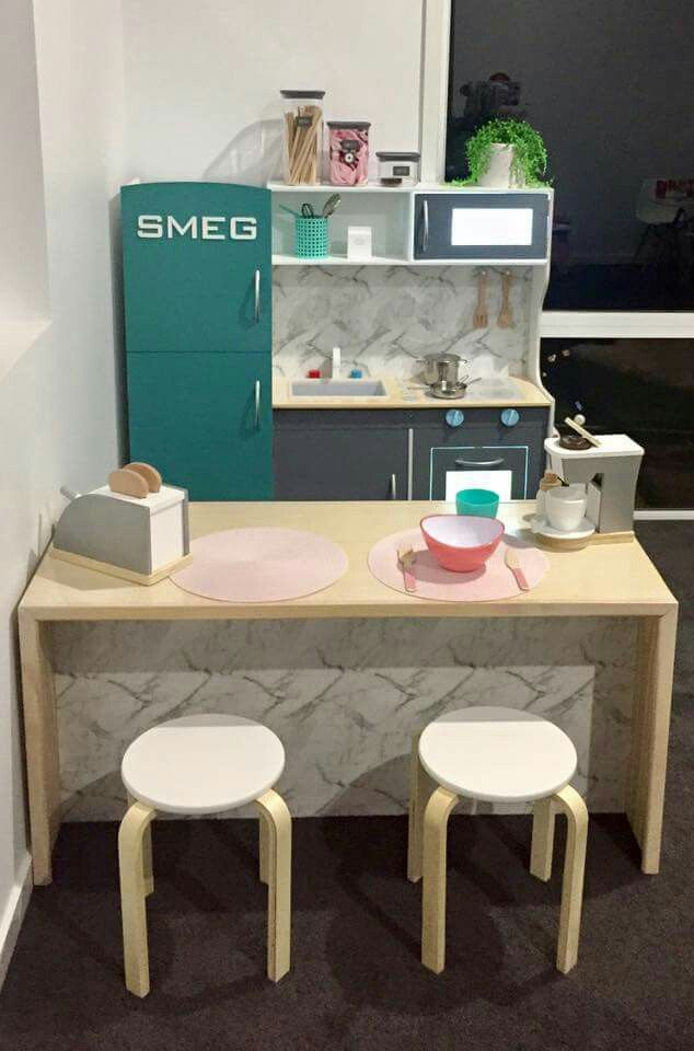 Play Kitchen Hack With A Retro Smeg Fridge So Cute