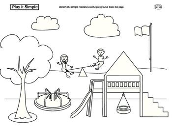 Simple Machines On The Playground Simple Machines Kindergarten