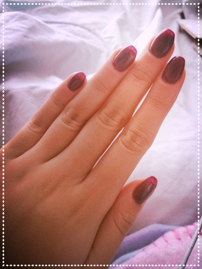 Bordeau squoval nails | Nails | Pinterest