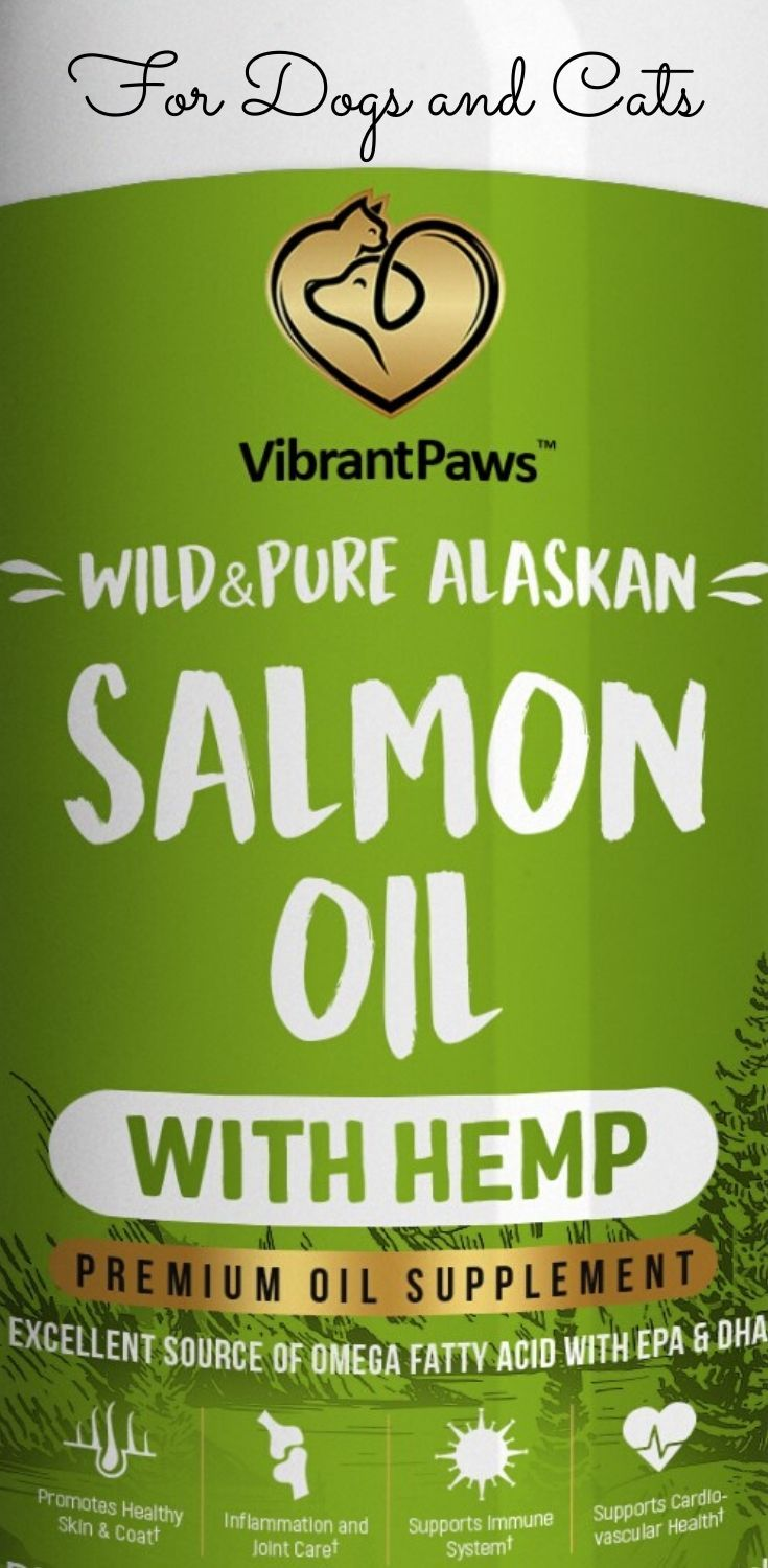 Alaskan Salmon Fish Oil with Hemp for Dogs and Cats