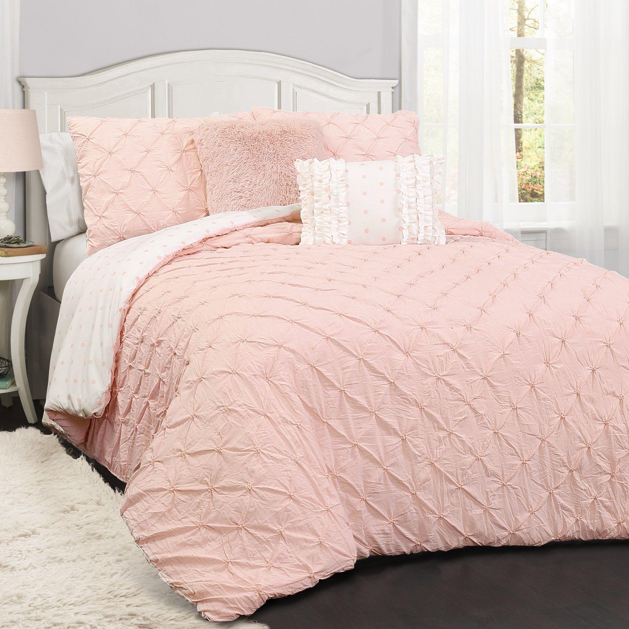Ravello Pintuck Juvy 4 Piece Comforter Set In 2020 Comforter