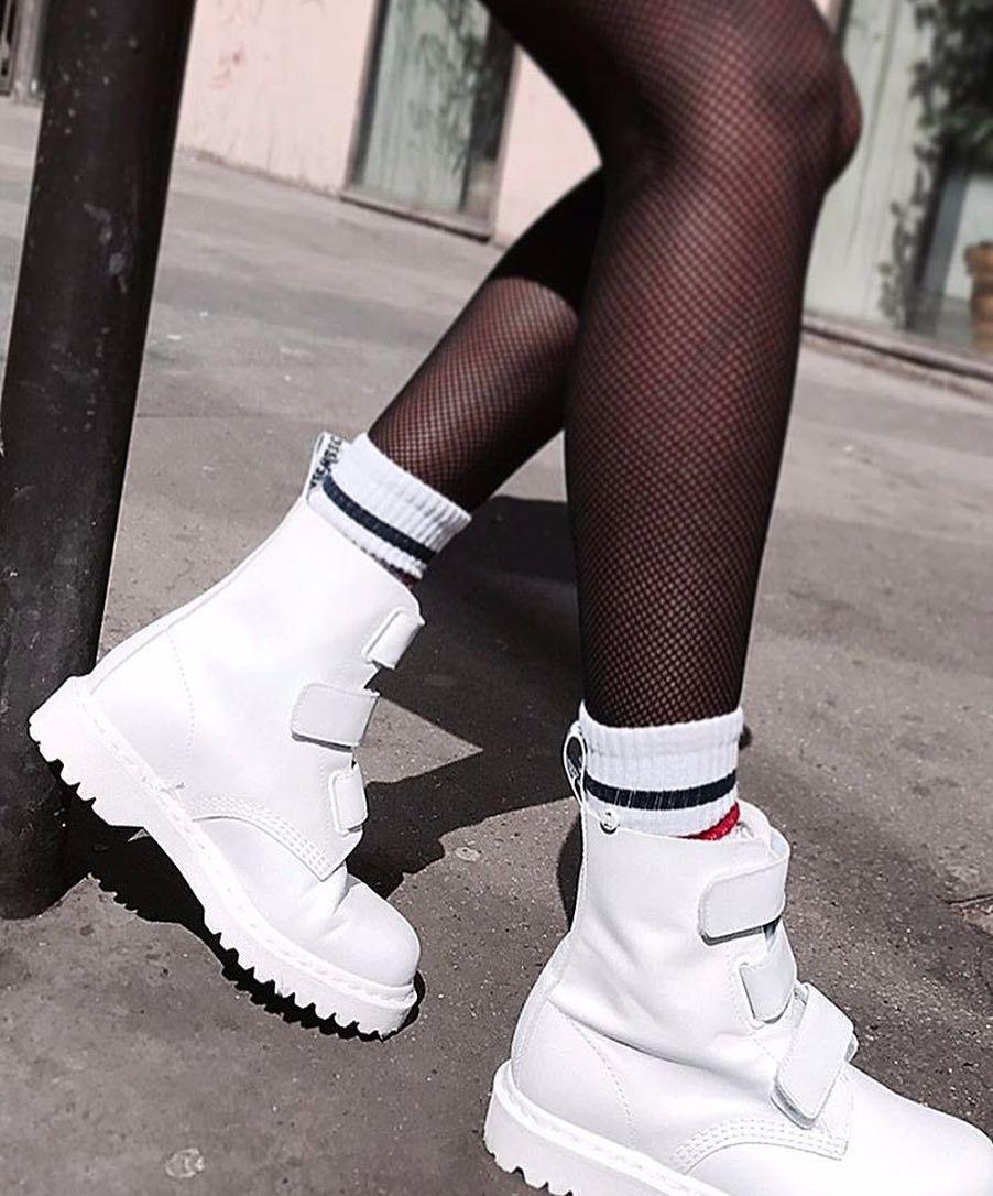 dr martens white strap boots Dr Martens