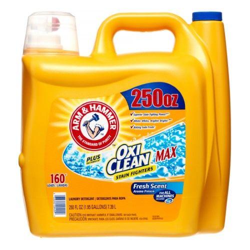 Arm Hammer Plus Oxi Clean Laundry Detergent Fresh 160 Loads