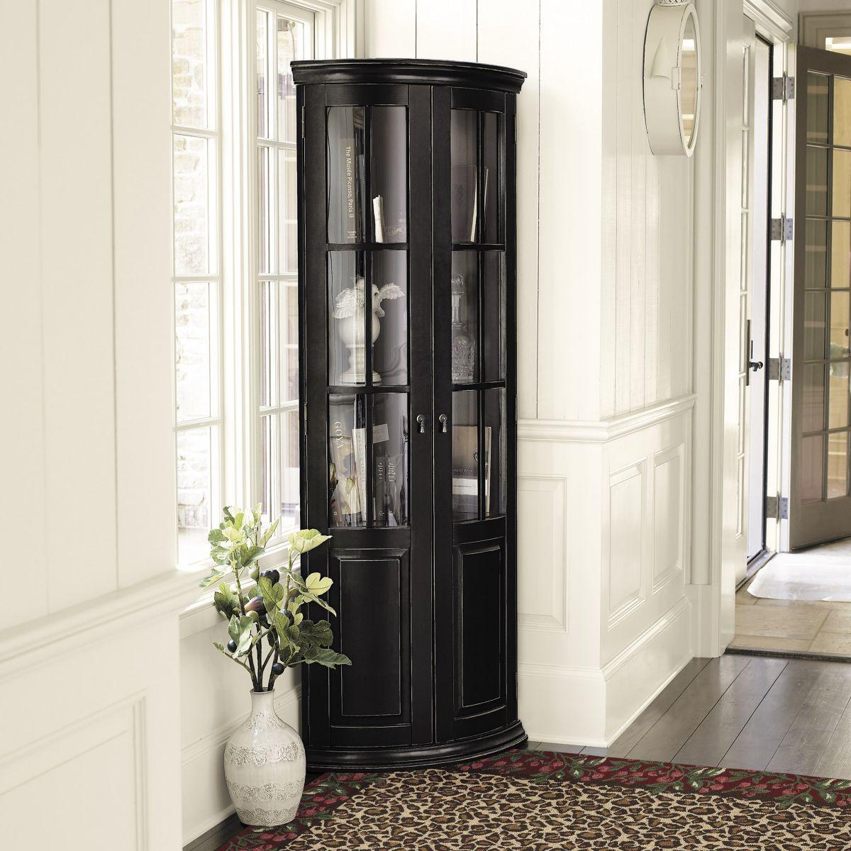 Chilton Glass Door Corner Cabinet   Corner cabinet, Dining ...