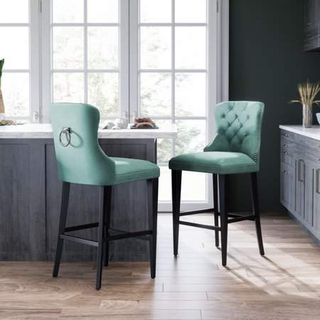 Enjoyable Devon Claire Plaza Tufted Bar Stool Emerald Green In 2019 Unemploymentrelief Wooden Chair Designs For Living Room Unemploymentrelieforg