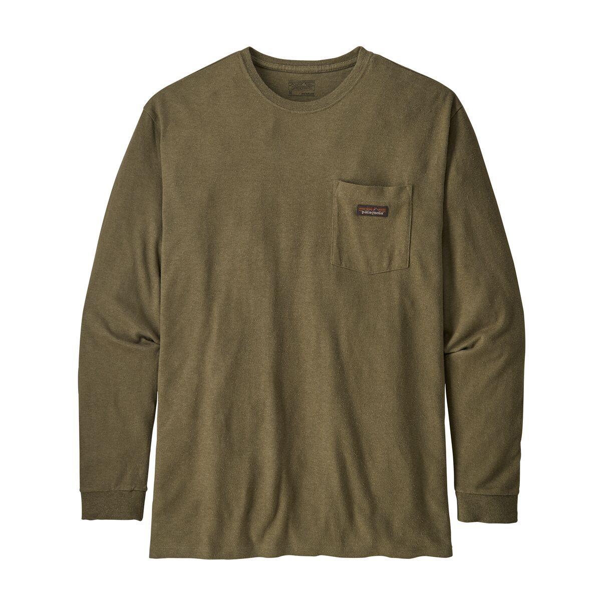 Men S Long Sleeved Work Pocket T Shirt Mens Tops Going Out