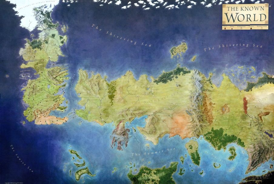 The Lands Of Ice And Fire Pdf With Images Game Of Thrones Map
