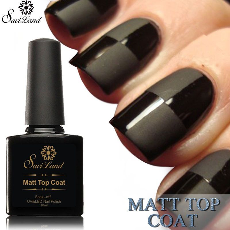 Saviland 1pcs 10ml Matt Matte Top Coat UV LED Nail Gel Polish UV Gel ...