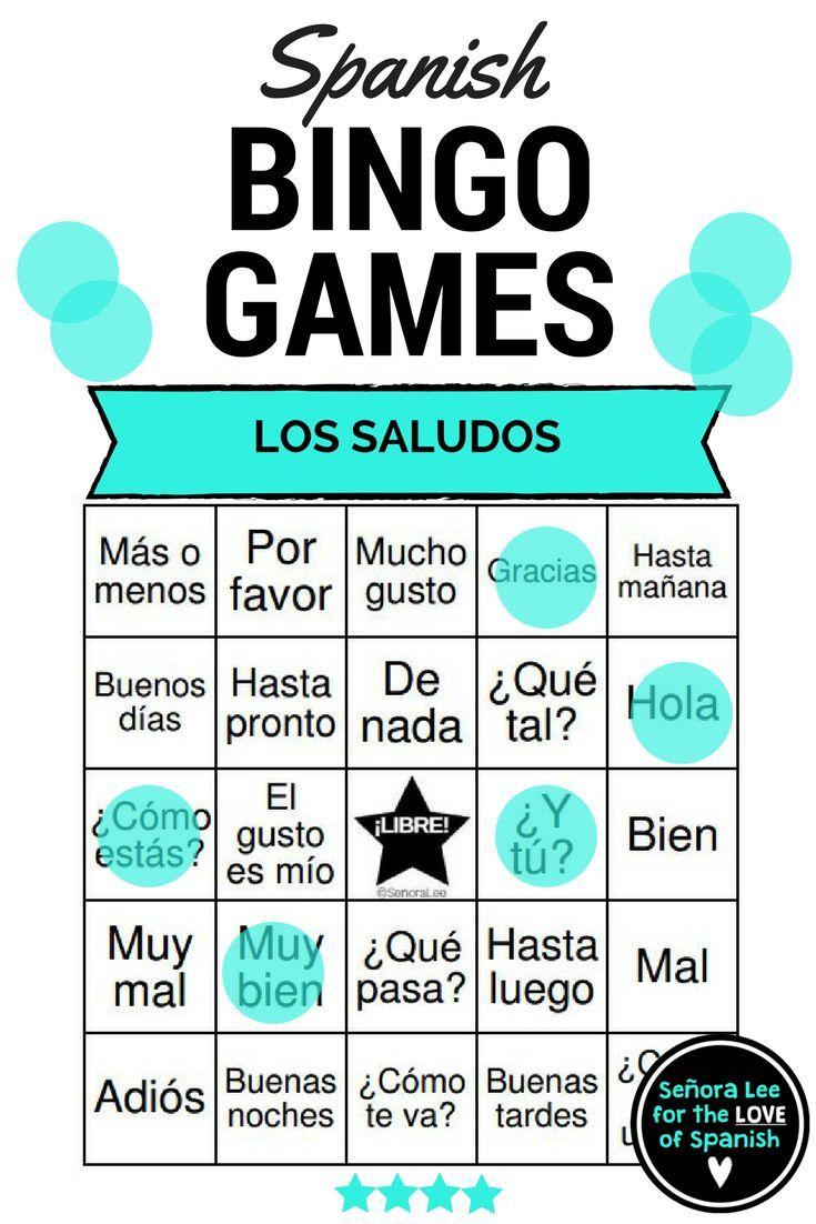 Spanish Greetings Bingo And Vocabulary List Los Saludos