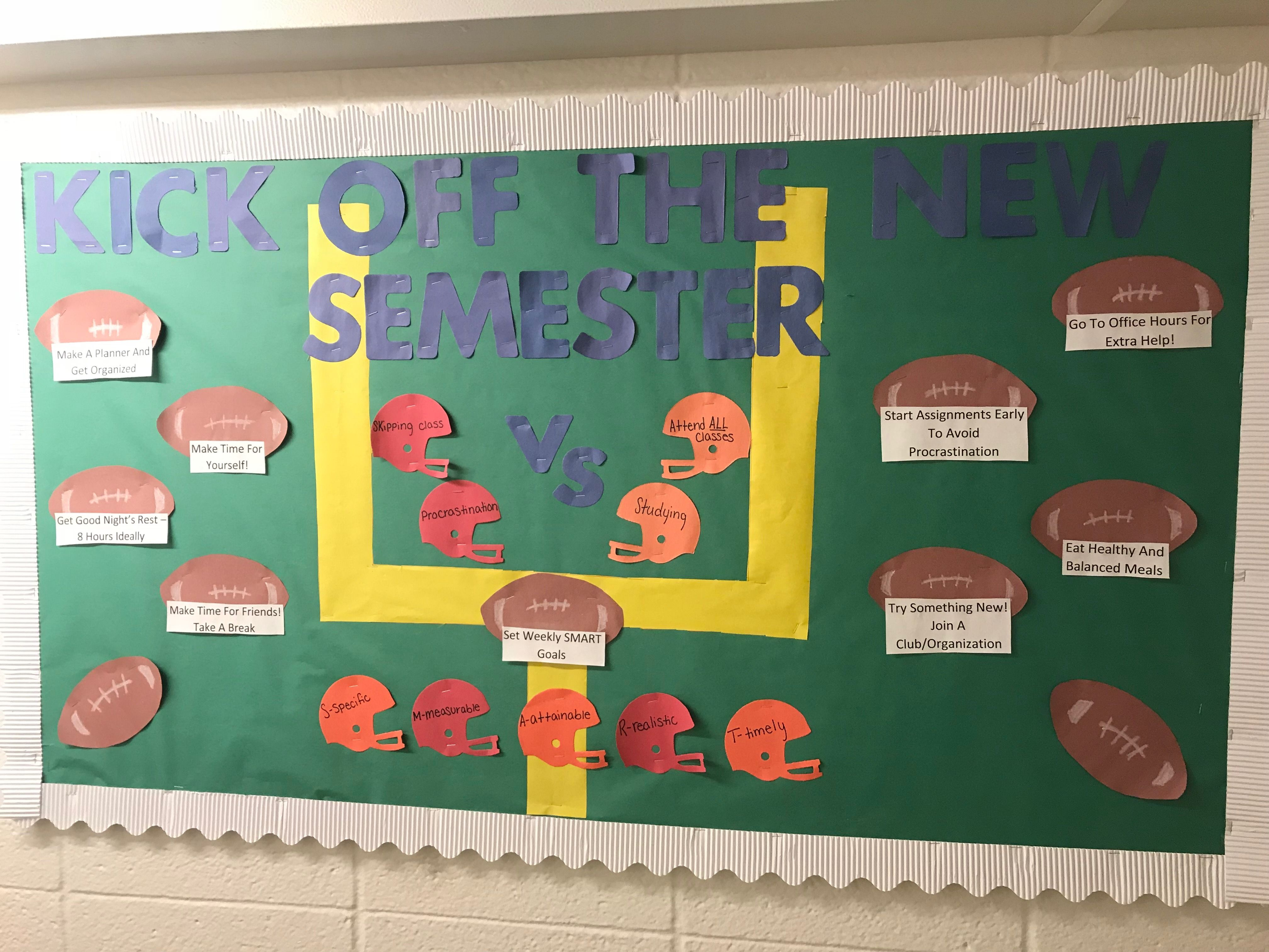 Kick off the new semester resident assistant bulletin