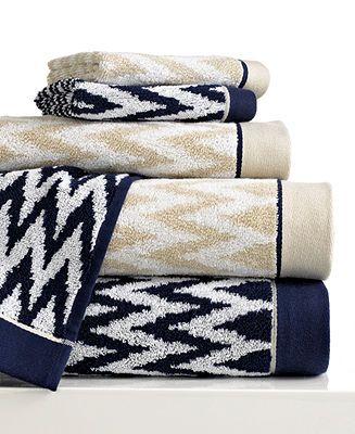 The Navy Bianca Bath Towels Rhythm Blue Collection Bath