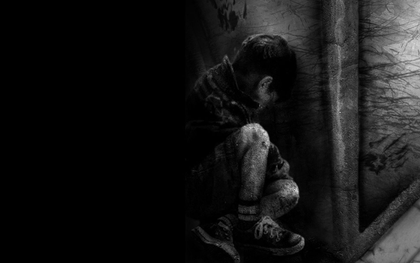 Sad black and white photography of people dark artistic boy lonely sad black dark wallpaper