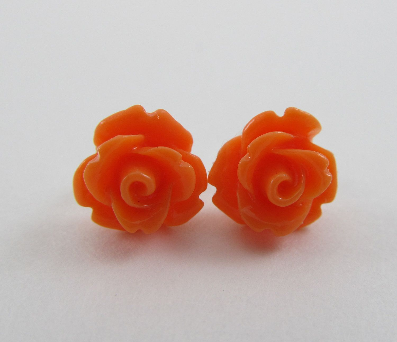 Love These Studs Flower Earrings Studs Rose Flower Stud Earrings