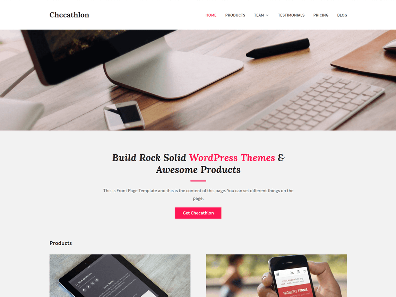 Checathlon Free Wordpress Theme Design Web Web Development And