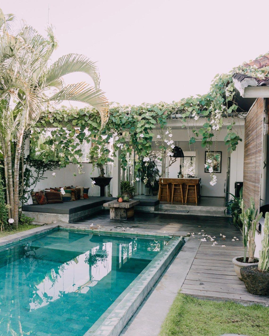 Bali Outdoor Living Space Outdoorlivingroom Backyard Pool Designs Small Backyard Design Swimming Pools Backyard