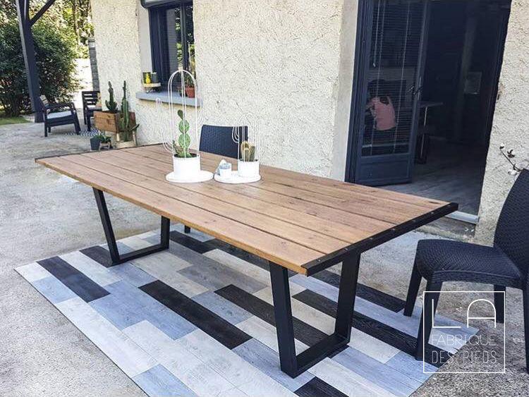 Pied De Table 71cm Trapeze La Fabrique Des Pieds Table A Manger Table Et Chaises La Fabrique Des Pieds