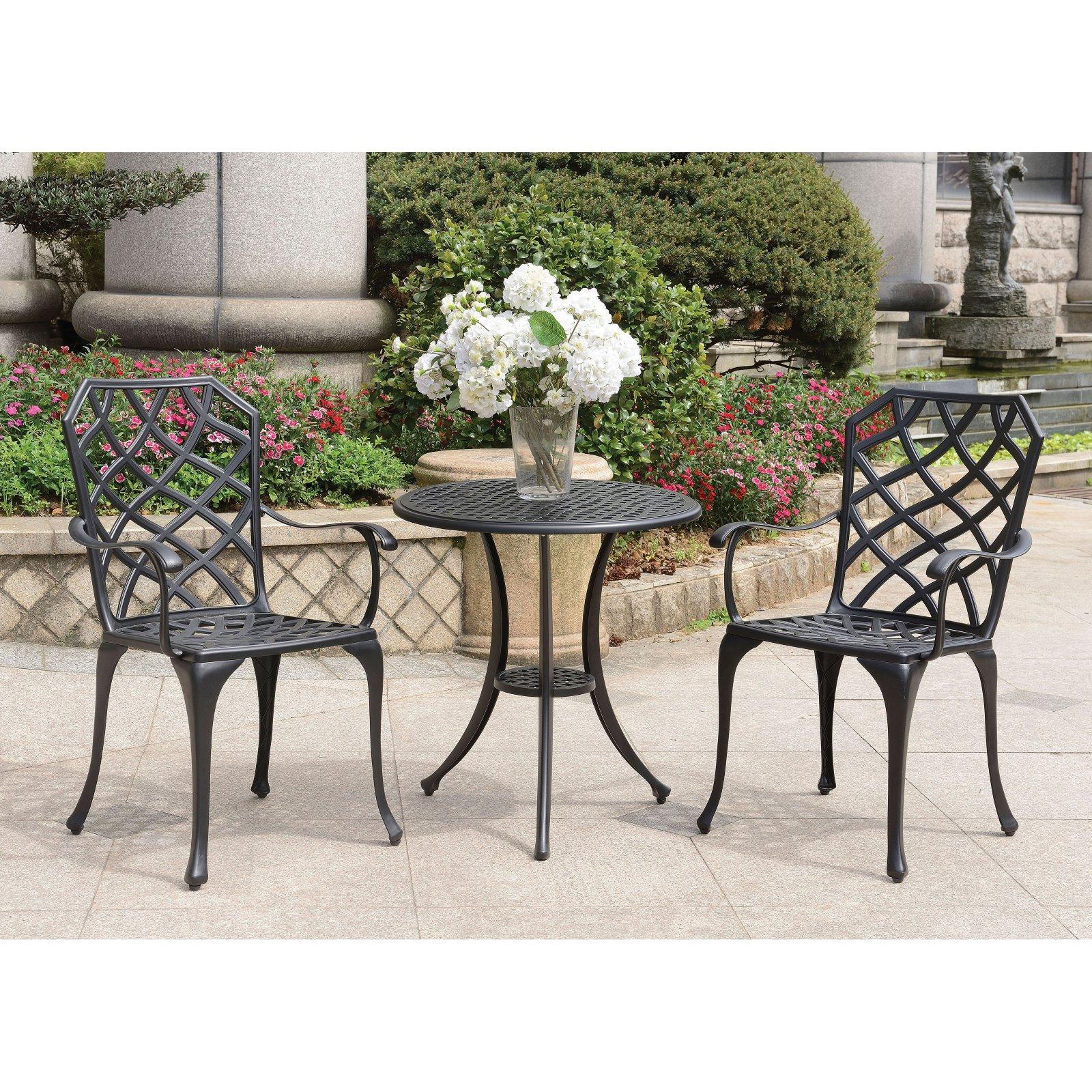 Outdoor Furniture Of America Loella Aluminum 3 Piece Trellis Patio