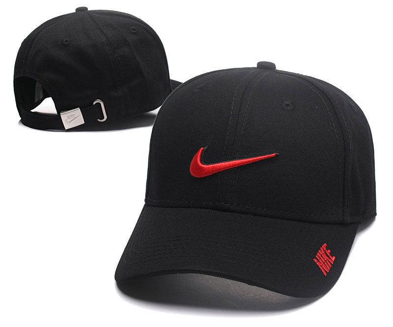 Men s   Women s Nike Curved Dad Phillip Cap II - Black   Red - Click Image  to Close 5e4bf61c330
