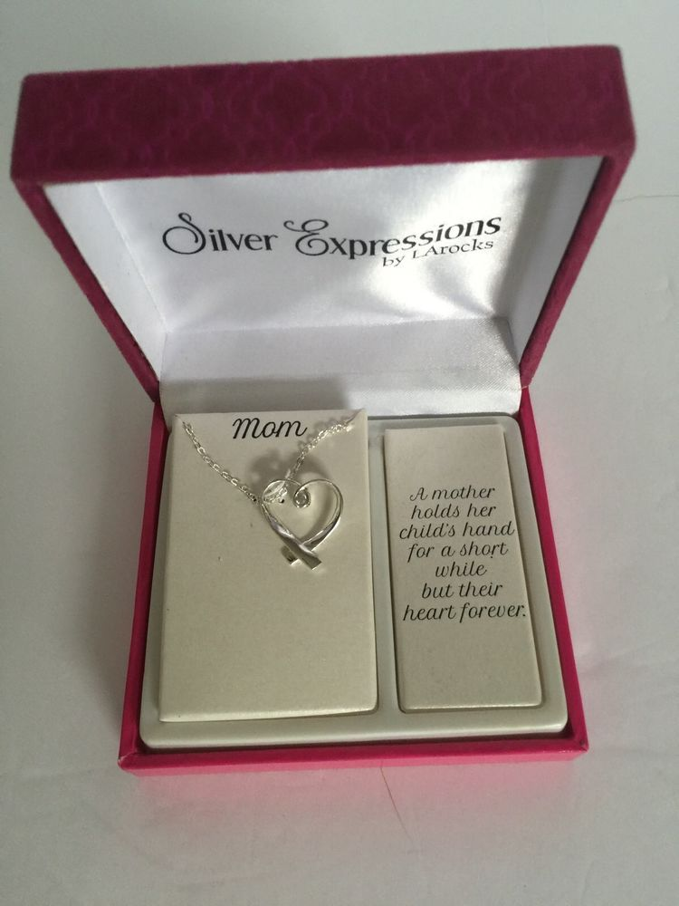 Mom Necklace By LaRocks Silver Expression Gift Box Mothers Day Gift     Mom Necklace by Larocks Silver Expression Gift Box Mothers Day Gift   eBay
