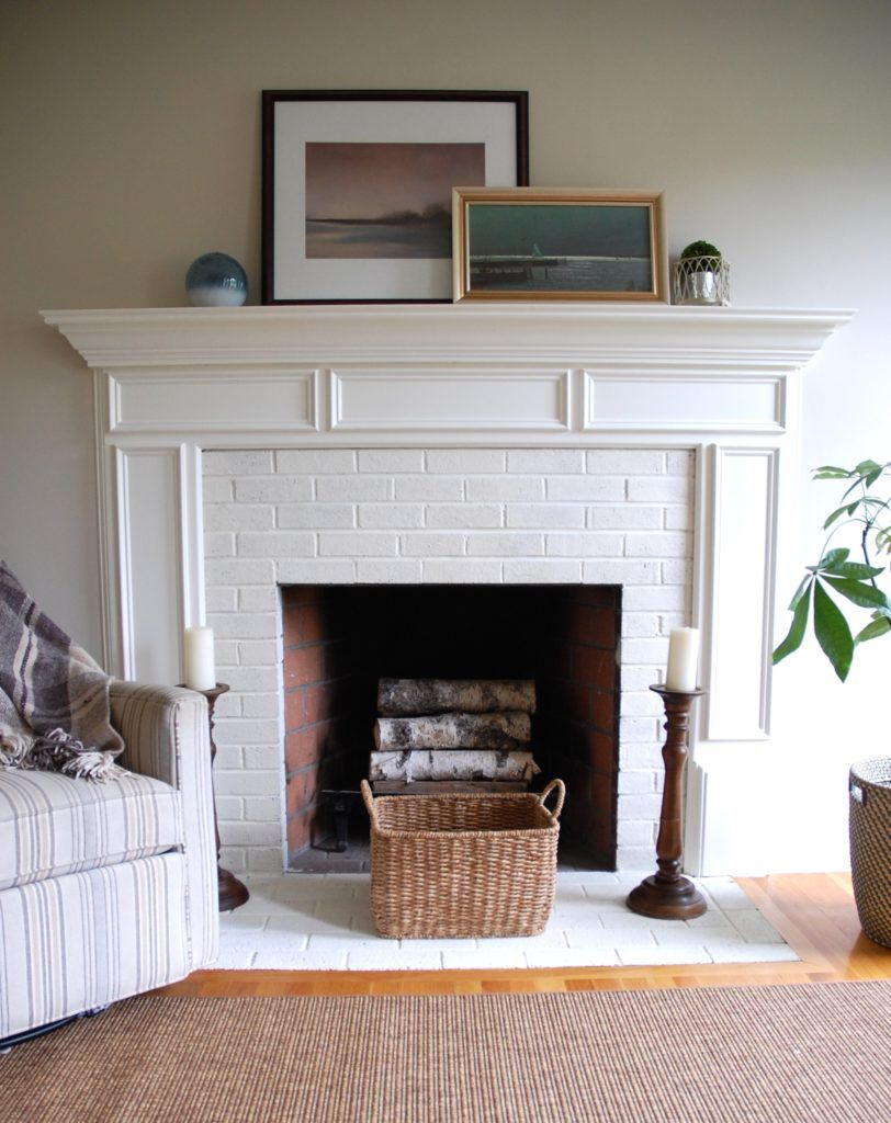 fireplace painted with annie sloan chalk paint diy home