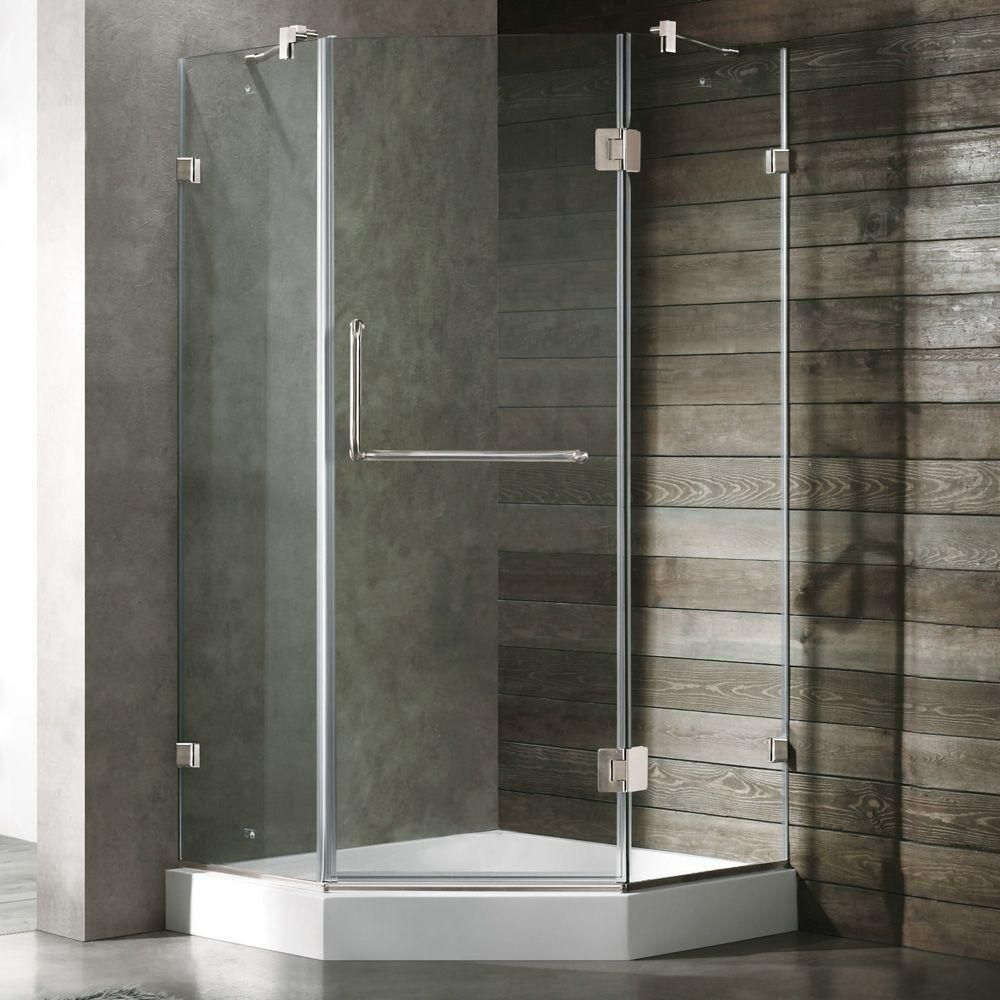 Vigo Piedmont 38 125 In X 78 75 In Frameless Neo Angle Shower