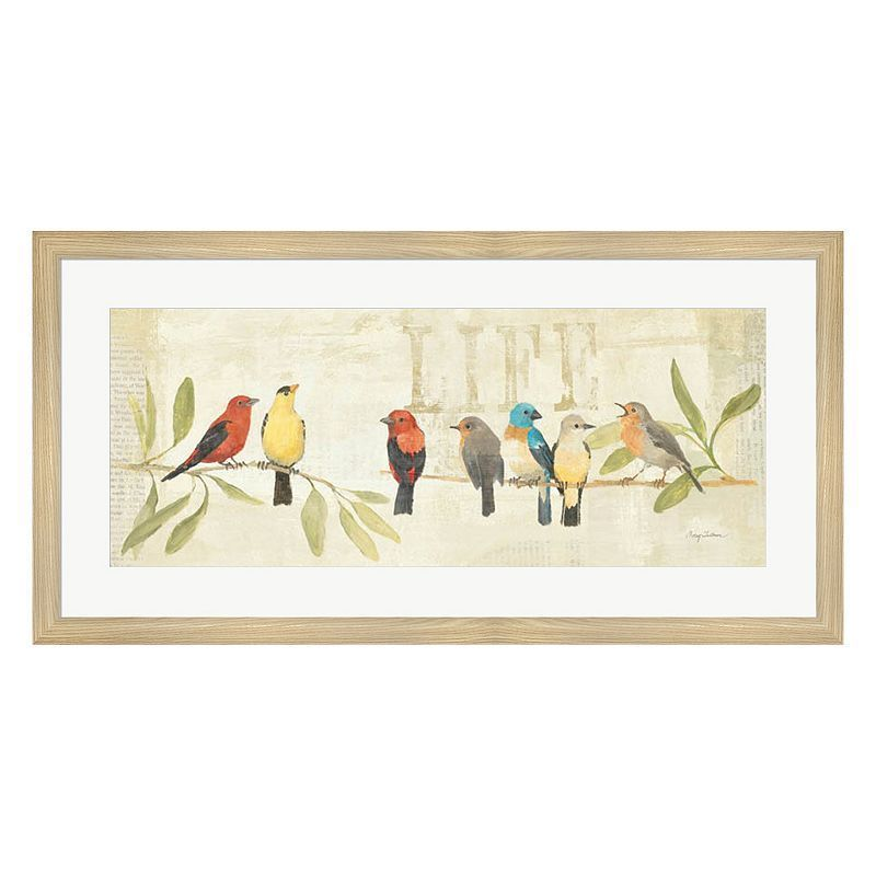Metaverse art adoration of the magpie panel ii framed wall art
