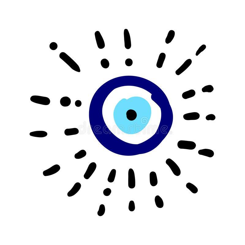 Craft Hand Drawn Turkish Evil Eye Mandala Greek Evil Eye Symbol Of Protection In Turkey Greese Cyprus Blue Tu In 2021 Evil Eye Art Greek Evil Eye Eye Illustration