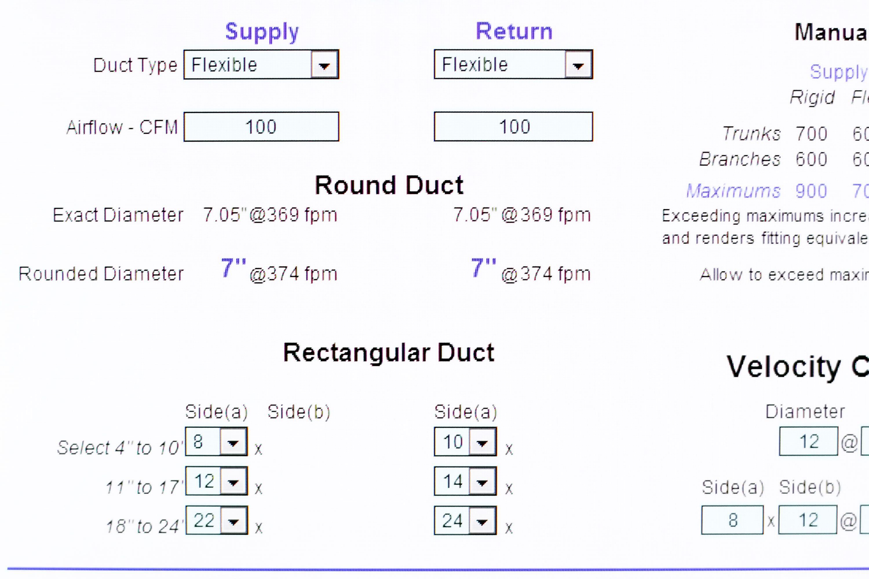 How To Size A Flex Duct Hunker Flex Duct Duct Hvac Maintenance