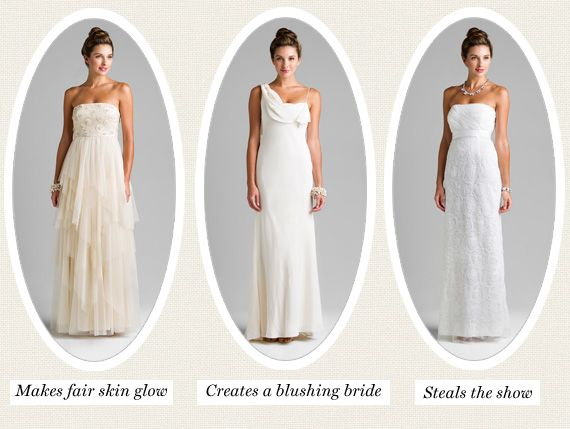 50 Shades Of White How To Pick Your Wedding Dress Hue