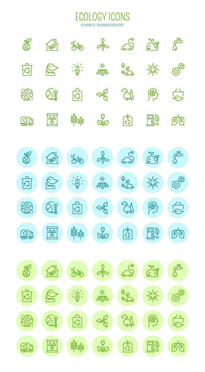 Free download: Vector Ecology icons | sketches | Icon design