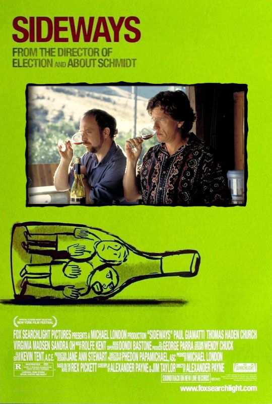 Wine Movie – Sideways, the movie that made no one want to be caught dead ordering a Merlot!